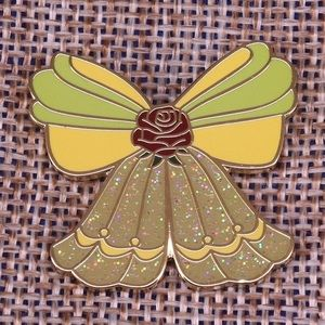 Jewelry - Disney Beauty and the Beast Bow Glitter Pin